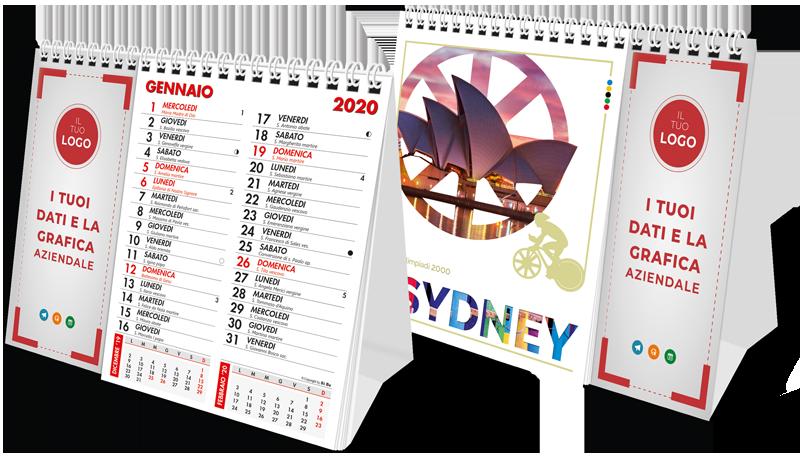 calendari da tavolo personalizzati 2020 con cartoncino personalizzato