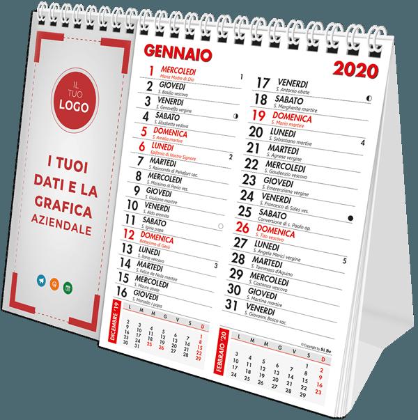 calendario da tavolo personalizzato per aziende