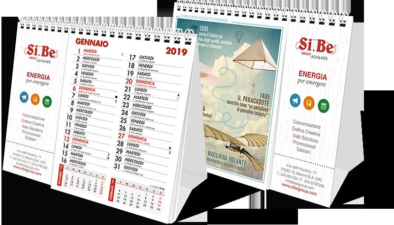 calendari da tavolo personalizzati 2018