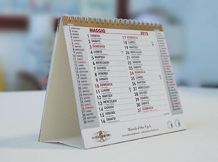 Calendari da tavolo personalizzati miscela doro si.be group